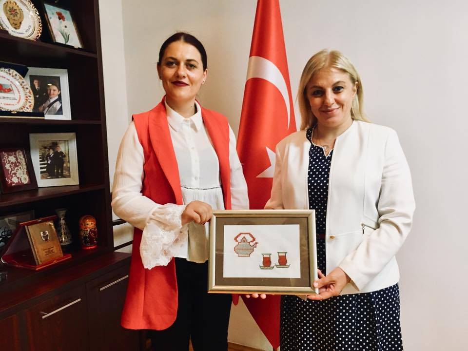 Средба на градоначалничката на Могила со амбасадорката на Турција во Македонија