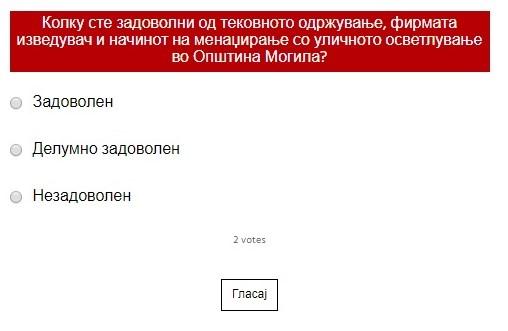 Анкета за жителите на Општина Могила